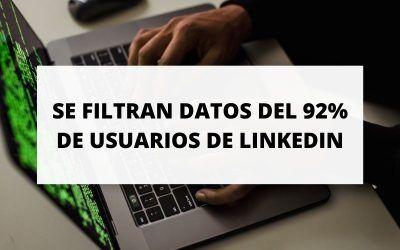 Se filtran los datos personales del 92% de los usuarios de LinkedIn